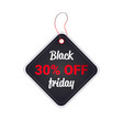 black friday price tag discount badge holiday vector image vector image