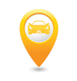 car MAP pointer yellow vector image vector image
