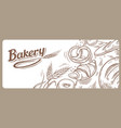 card design with drawn baking vector image vector image