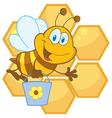 Cartoon bee hive vector image