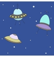 Cartoon UFO vector image