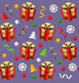christmas seamless pattern with presents vector image vector image