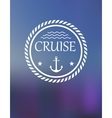 Cruise header with anchor and waves vector image vector image