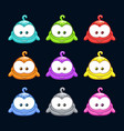 cute cartoon colorful little blob characters set vector image