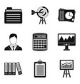 dedicated computer icons set simple style vector image vector image
