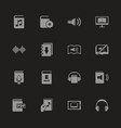 ebooks - flat icons vector image vector image