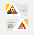 electricity business card electrician vector image