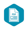 file pdf icon simple style vector image vector image