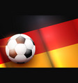 football ball and germany flag vector image