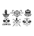 gentleman club vintage logo templates set retro vector image