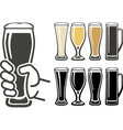 glass of beer sign vector image vector image