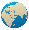 Globe africa eurasia vector | Price: 1 Credit (USD $1)
