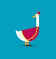 goose wearing bellboy uniform vector image vector image
