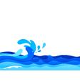 Graphic of ocean waves vector image