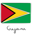 Guyana flag doodle vector image vector image