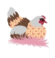 Hand drawn patchwork hen vector image