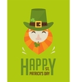 happy St Patricks day Irish man with beer St vector image