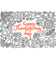happy thanksgiving day poster with greetings vector image
