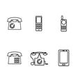 icons phones vector image vector image