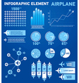 Infographics elements airplane vector image vector image