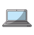 isolated office laptop vector image vector image