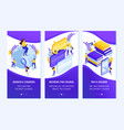 isometric application concept for education vector image vector image