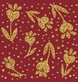 jewelry gold glitter pattern love heart flower vector image