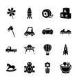 kids toys glyph icons vector image vector image