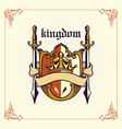 kingdom badge arm with ribbon vector image