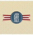Labor Day Sale textile Emblem vector image vector image