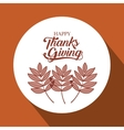 leaves thanks given design vector image vector image