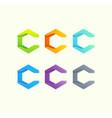 letter c logo design vector image