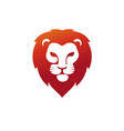 lion head with red color logo vector image vector image