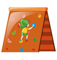 little boy climbing on wall vector image