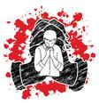 Man praying to god prayer cartoon graphic