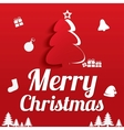Merry Christmas Greeting Card Christmas tree vector image vector image