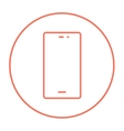 Mobile phone line icon vector image vector image