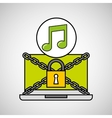 music security internet technology vector image vector image