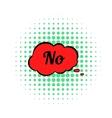 No in cloud icon comics style vector image vector image