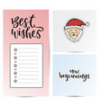 Note paper for best wishes new year sticky notes vector image