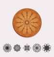 ornamental cork beer coaster vector image vector image