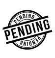 Pending rubber stamp vector image vector image