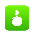 perfume bottle product icon green vector image vector image