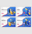 personal data security landing page template vector image vector image