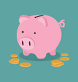 piggy bank money savings concept vector image vector image