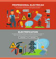 professional electrician services and vector image vector image
