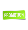 promotion green square sticker on white background