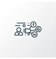 promotion icon line symbol premium quality vector image vector image