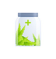 pure marijuana jar composition vector image vector image