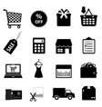Retail icons vector image vector image